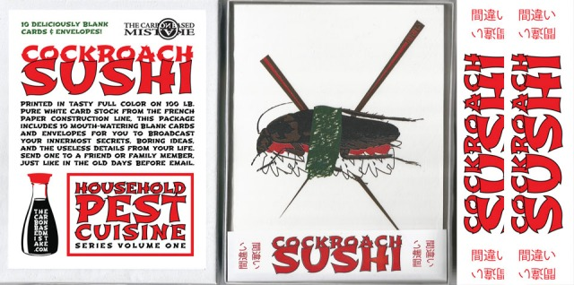 Cockroach Sushi cards (Household Pest Cuisine Vol. 1)