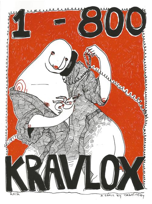 1-800-KRAVLOX © Isabel Reidy - sharkmancomixxx.tumblr.com