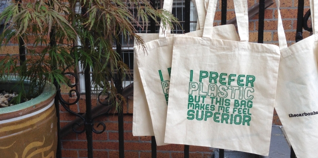 I Prefer Plastic But This Bag Makes Me Feel Superior (Book Bag/Canvas Tote)